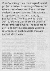 D. E. COOKBOOK MAGAZINE Nº4 CALI THORNHILL DEWITT-00/12 Cover and Backcover (2018)-14