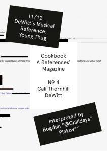 D. E. COOKBOOK MAGAZINE Nº4 CALI THORNHILL DEWITT-11/12 and 12/12 Covers (2019)-129